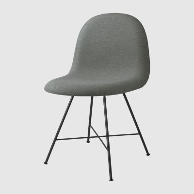 Gubi 3D Dining Chair Center Base - Fully Upholstered Crisp 04031