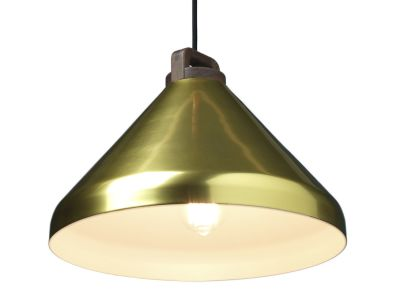 Handle Wide Pendant Light Brass