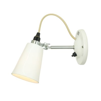 Hector Flowerpot Wall Light With Switch, Small