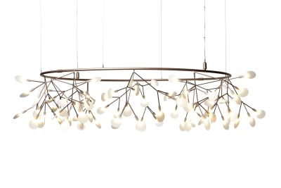 Heracleum Small Big O Pendant Light Copper, 10 m Cable
