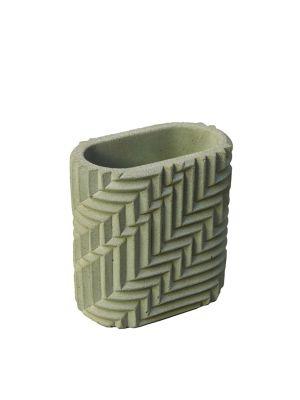 Herringbone Pen Pot - Sage Green Herrignbone Pen Pot - Sage Green