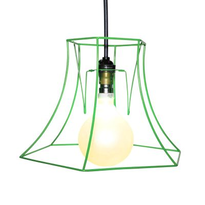 "Hex Skeleton Lampshade 12"", Green"