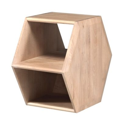 Hexa Side Table Walnut Natural