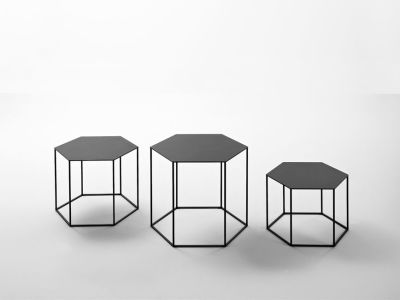 Hexagon Stacking Side Table - Set Of 3 B62 Matt White