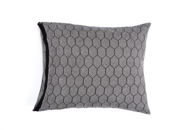 Honeycomb Knitted Cushion Hive Black & White