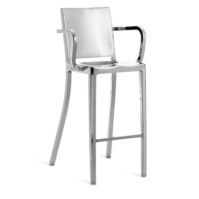 Hudson Barstool with Arms Hand Polished