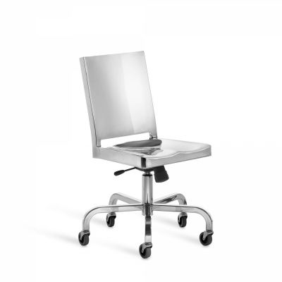 Hudson Swivel Chair Hand Polished