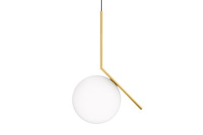 IC Pendant Light S2, Brushed Brass, Large