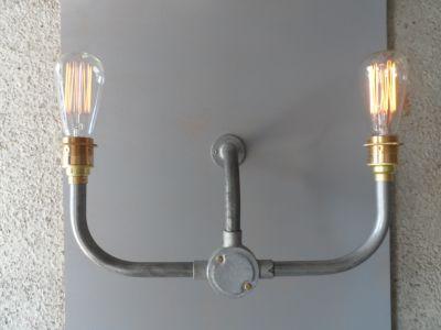 Industrial Handlebar Wall Light