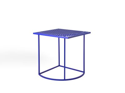Iso B Square Side Table Blue