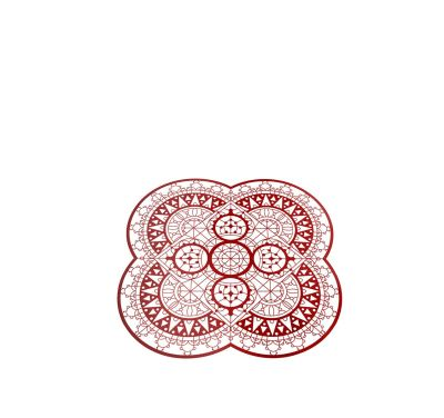 Italic Lace Petal Placemat Red