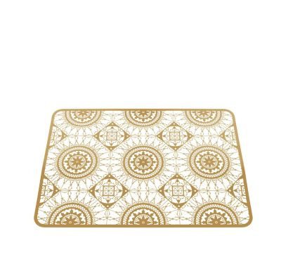 Italic Lace Rectangular Placemat Brass