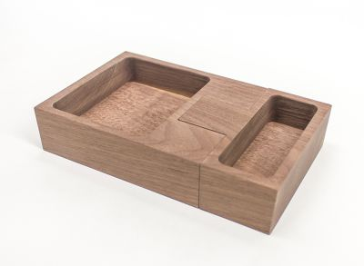 Join Candleholder & Storage Walnut, Brown
