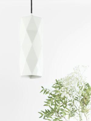 [K2] Pendant Lamp Triangle Glossy Porcelain
