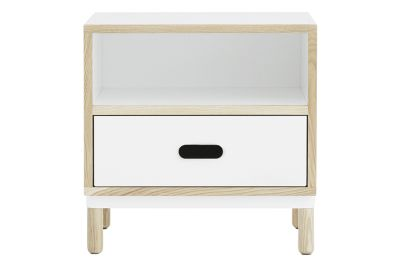 Kabino Bedside Table White