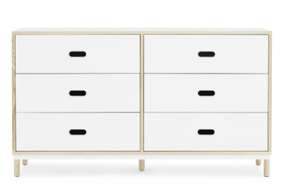 Kabino Dresser with 6 Drawers White