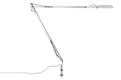Kelvin Desk-Mounted Lamp with Visible Cable Chrome