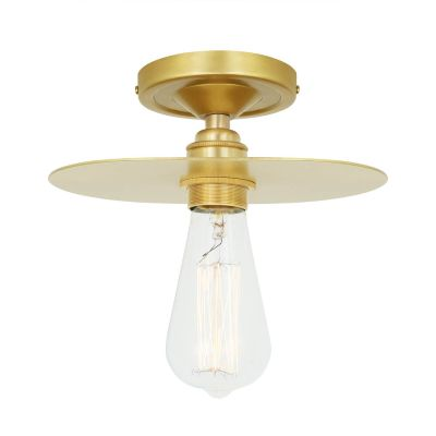 Kigoma Semi Flush Ceiling Light Satin Brass