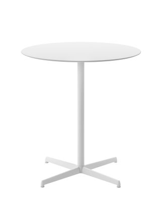 Kobe Dining Table - Round 79 cm, B62 Matt White, B34 Light Grey, No