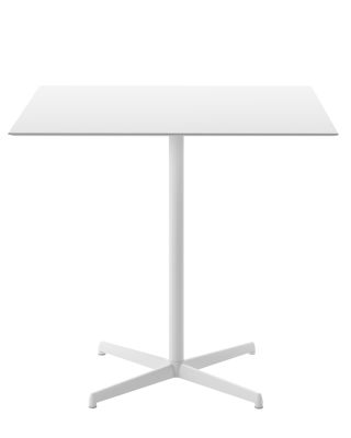 Kobe Dining Table - Square B62 Matt White, D34 White Layered Laminate, 69 x 69cm