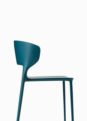 Koki Dining Chair - Stackable Polypropylene F73 Bungee Brown-Polypropylene F73 Bungee Brown-Yes