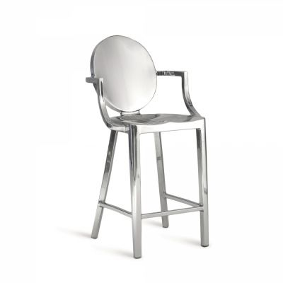 Kong Barstool with Arms Hand Polished