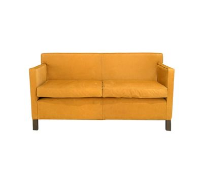 Krefeld 2 seat sofa Ebonised Oak Leg Finish, Leather AD 6024