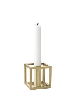 Kubus 1 Candleholder - Set of 4 Brass-Plated