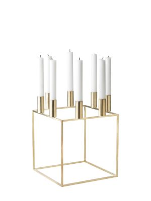Kubus 8 Candleholder - Set of 2 Brass-Plated