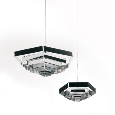 Lampada Esagonale Suspension Light Aluminium, 82