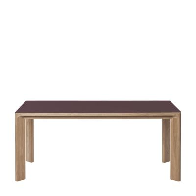 Lastra Rectangular Dining Table Burgundy