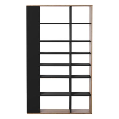 Lato Tall Shelving Unit Charcoal