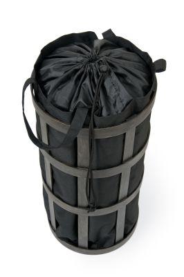 Laundry Basket Cage - Dark oak with black bag