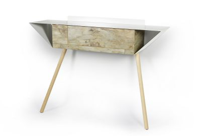 "Leaning sideboard ""Anlehnschrank 02 - Stone"" Oiled oak wood legs (= natural)"