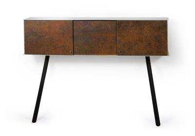 "Leaning sideboard ""Anlehnschrank LS-01 - Rust"" Black beech wood legs"