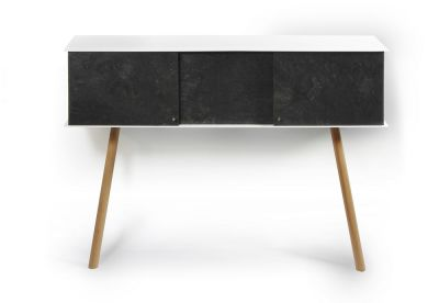 "Leaning sideboard ""Anlehnschrank LS-01 - Slate"" Oiled oak wood legs (= natural)"