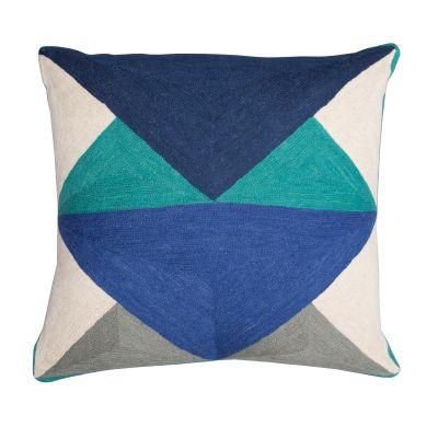 LeWitt Cushion Emerald & Navy