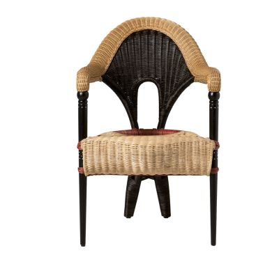 Liba  Armchair Red + Black Natural Cane
