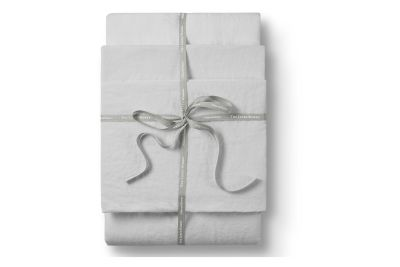 Linen Flat Sheet Classic White,