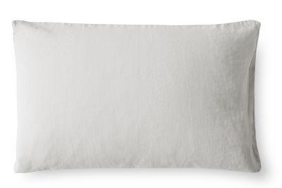 Linen Pillowcase Dove Grey, Oxford