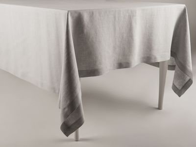 Linen tablecloth Dove grey 120x180cm