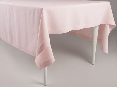 Linen tablecloth Dusty rose 140x240cm