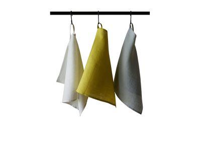 Linen tea towels Set Mustard