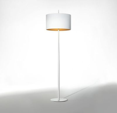 Lola Floor Lamp White/Gold