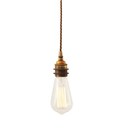 Lome Vintage Braided Suspension Pendant Light Antique Brass