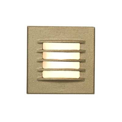 Low Voltage Recessed Step Light Bead Blasted Bronze, 12 DC