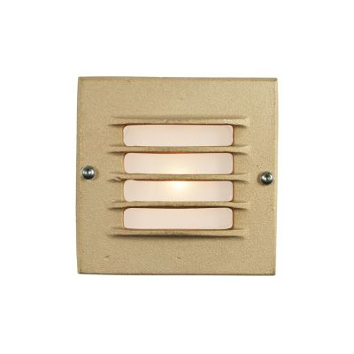 Low Voltage Recessed Step Light Sandblasted Bronze, 230 AC