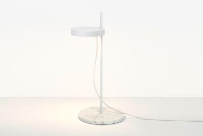 LT06 Palo Table Lamp Signal White with Powder-coated Aluminium Base