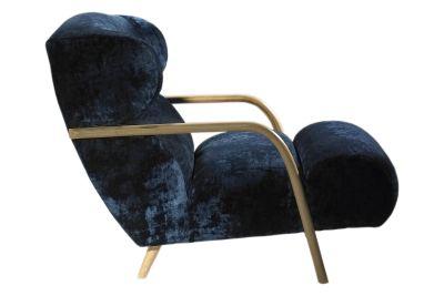 Mama Chair Walnut Stain, BLue