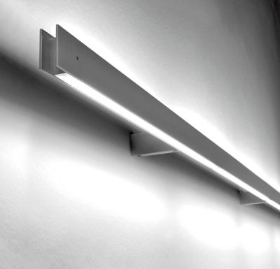 Marc Arm Wall Light 1L, No, Matte Grey, 130, LED